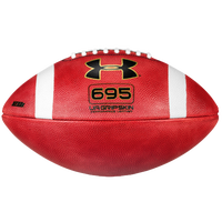 Under Armour 695 Official Size Leather Football - Men's - Brown / White