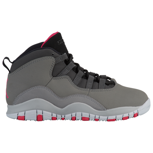 newest e317a 4c630 ... wholesale jordan retro 10 girls preschool basketball shoes dark smoke grey  rush pink black iron grey