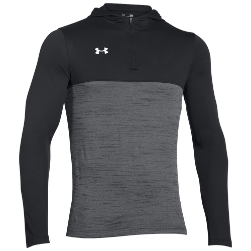 Under Armour Team Tech 1/4 Zip Hoodie - Men's For All Sports - Black/White 87617001