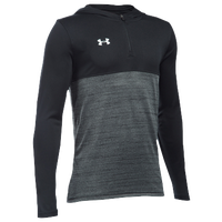 Under Armour Team Tech 1/4 Zip Hoodie - Boys' Grade School - Black / Grey