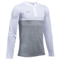 Under Armour Team Tech 1/4 Zip Hoodie - Boys' Grade School - White / Grey