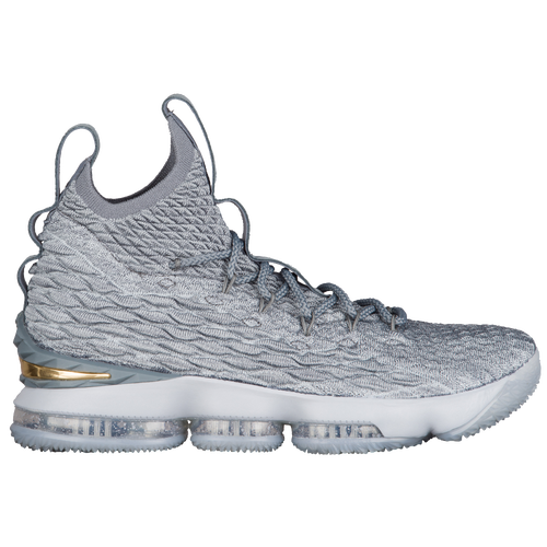Nike LeBron 15 - Men's - Basketball - Shoes - Lebron James - Wolf  Grey/Metallic Gold/Cool Grey