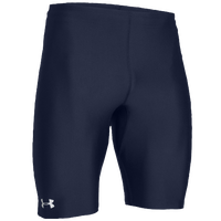 Under Armour Team Track Compression Shorts - Men's - Navy / White