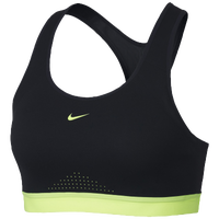 Nike Motion Adapt High Support Bra - Women's - Black / Light Green