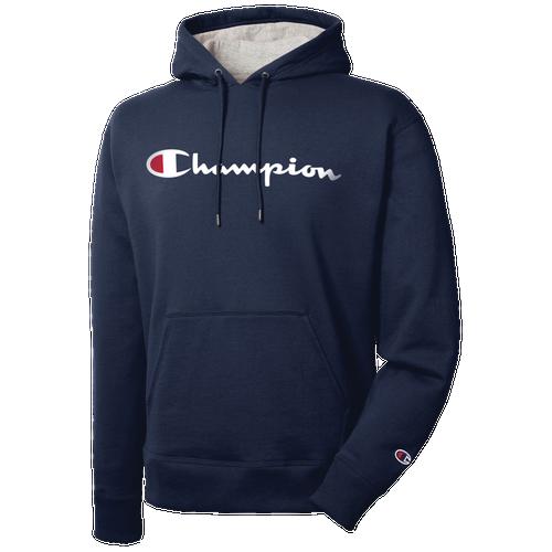 Champion Powerblend P/O Hoodie - Men's Casual - Black 89H94001