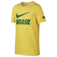 Team soccer eastbay team sales nike swoosh t shirt grade school brazil gold green maxwellsz