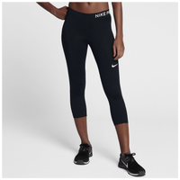 Nike Pro Cool Capris - Women's - Black / White