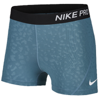 "Nike Pro 3"" Compression Shorts - Women's - Aqua / Black"