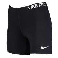 "Nike Pro 5"" Compression Shorts - Women's - Black / White"