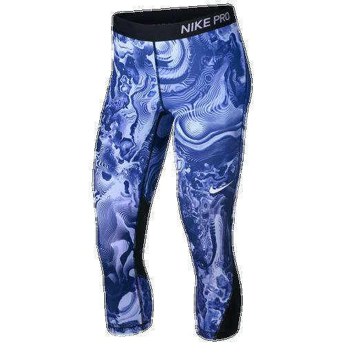 Nike Pro Cool Capris - Women's Training - Light Racer Blue/Black 89984461