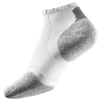 Thorlo Cushioned Heel Micro Mini Running Socks - White / Grey