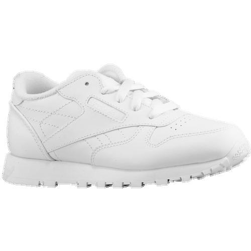 2c4caa4ce5f9 Reebok Classic Leather Boys Preschool Running Shoes White on PopScreen