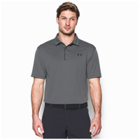 Under Armour Tech Golf Polo - Men's - Grey / Black