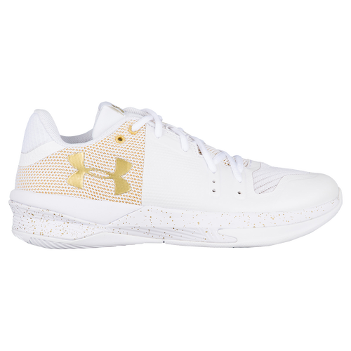 Under Armour Volleyball White And Gold Shoe
