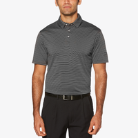 PGA Tour Feeder Stripe Golf Polo - Men's - Grey / Black