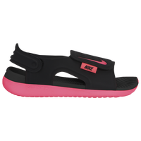 Nike Sunray Adjust 5 Sandal - Girls' Preschool - Black / Pink