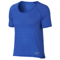 Nike Dry Breathe Miler T-Shirt - Women's - Blue / Grey