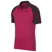 Nike Dri-Fit Raglan Golf Polo - Men's - Pink / Maroon