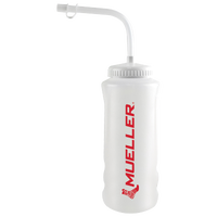 Mueller Quart Water Bottle With Straw Cap - White / Red