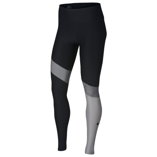 Nike Colorblock Power Tights - Women's Training - Black/Gunsmoke/Atmosphere 91926011