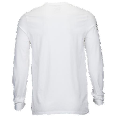 Nike Graphic Long Sleeve T-Shirt - Men's Casual - White/Camo Greens 92310504