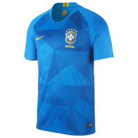 Nike Brazil Breathe Stadium Jersey - Men's - Brazil - Blue / Gold