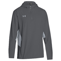 Under Armour Team Squad Woven 1/4 Zip Jacket - Men's - Grey / Grey