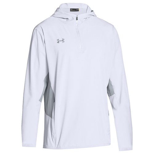 under armour jackets mens. under armour team squad woven 1/4 zip jacket - men\u0027s white / grey jackets mens