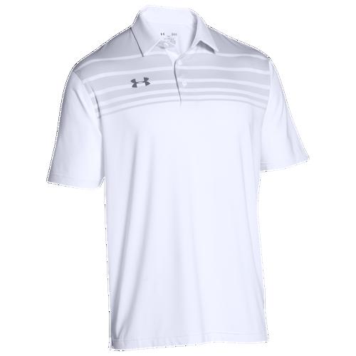 Under Armour Team Victor Polo - Men's Baseball - White/Graphite 93909100