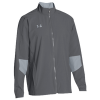 Under Armour Team Squad Woven Warm Up Jacket - Men's - Grey / Grey