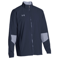 Under Armour Team Squad Woven Warm Up Jacket - Men's - Navy / Grey