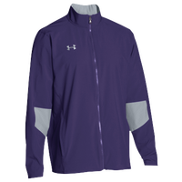 Under Armour Team Squad Woven Warm Up Jacket - Men's - Purple / Grey