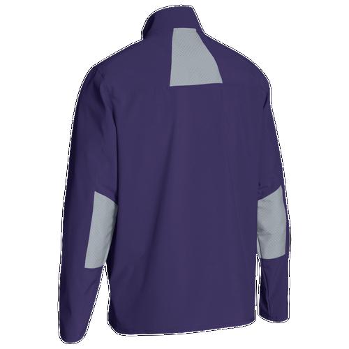 Under Armour Team Squad Woven Warm Up Jacket - Men's Baseball - Purple/Steel 93911500