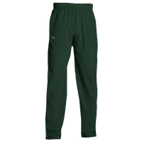 Under Armour Team Squad Woven Warm Up Pants - Men's - Dark Green / Dark Green