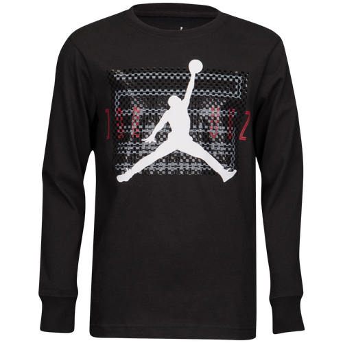 Jordan retro 11 long sleeve t shirt boys 39 grade school for Retro long sleeve t shirts