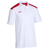 Under Armour Team Colorblock Polo - Men's - White / Red