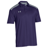 Under Armour Team Colorblock Polo - Men's - Purple / Grey