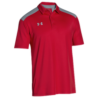 Under Armour Team Colorblock Polo - Men's - Red / Grey