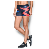 "Under Armour HeatGear 3"" Compression Shorts - Women's - Navy / Red"