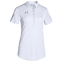 Under Armour Team Armour Colorblock Polo - Women's - White / Grey