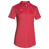 Under Armour Team Armour Colorblock Polo - Women's - Red / Grey