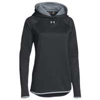 Under Armour Team Double Threat Fleece Hoodie - Women's - Black / Grey