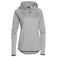 Under Armour Team Double Threat Fleece Hoodie - Women's - Grey / Black