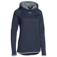 Under Armour Team Double Threat Fleece Hoodie - Women's - Navy / Grey