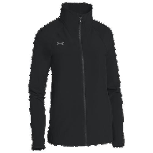 under armour jackets women s. under armour team squad woven warm up jacket - women\u0027s all black / jackets women s