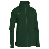 Under Armour Team Squad Woven Warm Up Jacket - Women's - Dark Green / Dark Green