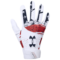 Under Armour Clean-up Batting Gloves - Grade School - White
