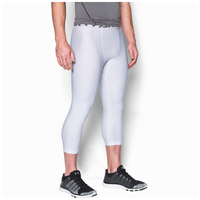 Under Armour HG Armour 2.0 3/4 Compression Tights - Men's - White / Grey