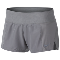 Nike Dry Crew Shorts 2 - Women's - Grey / Grey