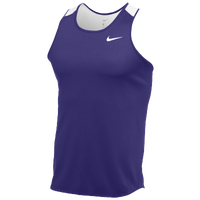 Nike Team Breathe Singlet - Men's - Purple / White